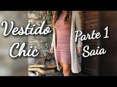 Just perfect!!!Vestido Chic em Crochê Passo a Passo 1° Parte - YouTube Vanessa Montoro, Crochet Long Dresses, Crochet Clothes, Cross Stitch Patterns, Crochet Patterns, Crochet Blouse, Crochet Videos, Cross Stitching, Knitting