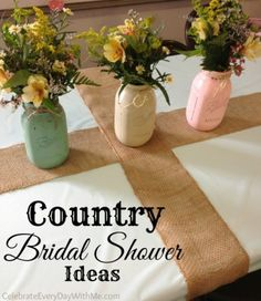 LOVE these ideas for a Country Bridal Shower!  So cute!! http://celebrateeverydaywithme.com/2014/07/country-bridal-shower-ideas.html
