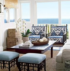 color blue and white coastal living