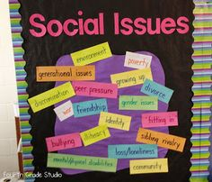 Reading and Responding:  Social Issues...blog post about teaching social issues through literature.