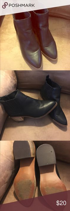 American Eagle western booties Worn once black booties.  Minimal wear on shoes American Eagle Outfitters Shoes Ankle Boots & Booties