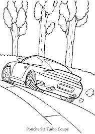 """Résultat de recherche d'images pour """"dessiner une porsche"""" Porsche 911 Turbo, Porche 911, Easy Drawings For Kids, Drawing For Kids, Coloring For Kids, Coloring Books, Printable Coloring Pages, Old Cars, Line Art"""