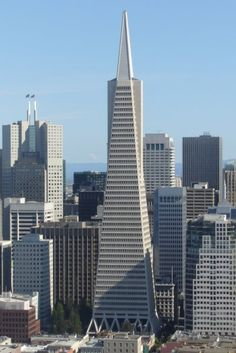 Transamerica Pyramid, San Francisco, California, by William Pereira (This building always welcomes me to San Fran.)