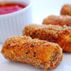 Baked Mozzarella Sticks - healthier than fried