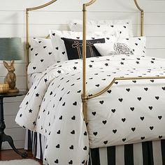The Emily + Meritt Heart And Star Duvet Cover + Sham NEW at #pbteen. Is it weird that I want this for my own room??