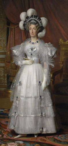 Marie-Amélie de Bourbon-Siciles, Queen of the French. Louis Hersent, 1830.
