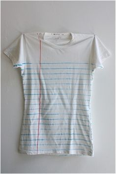 A lined paper shirt, I love it!