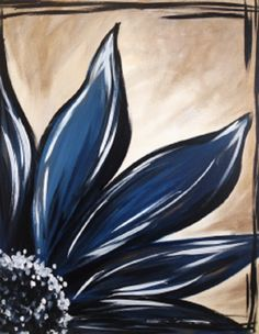 Sapphire Bloom is a fun and easily customizable painting. Change the colors and flip this one any way you'd like. This decorative flower would look lovely in any home!