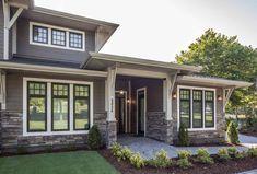 Versetta Stone® is a mortarless, ceme… Versetta Stone® – Ledgestone, Sterling. Versetta Stone® is a mortarless, cement-based manufactured stone panel. Black Windows Exterior, Exterior House Siding, Exterior Cladding, Cottage Exterior, Exterior Siding, Exterior House Colors, Stone Exterior, Exterior Color Schemes, Exterior Paint