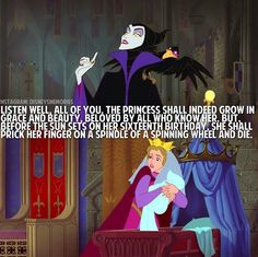 And I can hear each and every one of these words exactly the way Maleficent says them in the movie. Favorite princess♥