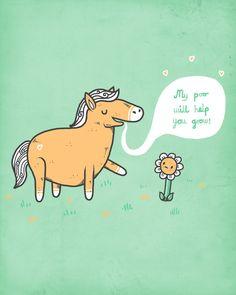 cool funny graphic design chicquero horse poo fertilizer;)