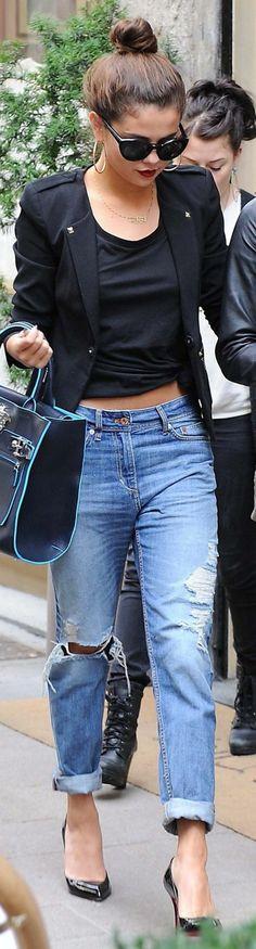 Selena Gomez porte jean boyfriend