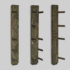 Sculpted Bronze Pilasters with Shelves | Paul Evans, Sculpted Bronze Pilasters with Shelves (1970)