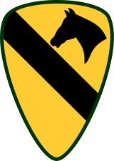 """- Carved Plaque of the Insignia of the First Cavalry Division, the """"First Team"""", US Army, Artist Painted Army Mom, Us Army, Army Girlfriend, Vietnam Veterans, Vietnam War, Military Units, Military Art, Military Insignia, Military Honors"""