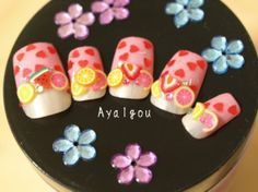 Hey, I found this really awesome Etsy listing at http://www.etsy.com/listing/50520554/japanese-nail-art-mikan-pink-lemonade