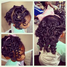 Bantu knot out!! #naturalhair #kidshair Natural hairstyles for kids