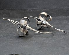 Handcrafted Jewellery by NtepiJewellery on Etsy Leaf Earrings, Flower Earrings, Sterling Silver Earrings, Anniversary Gift For Her, Birthday Gifts For Women, Antique Earrings, Handmade Sterling Silver, Bracelets For Men, Minimal Style