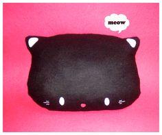 Kitty Plush Cushion by riaherod on DeviantArt
