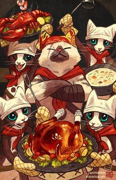 Palico Chefs - Print - Monster Hunter World Fan ArtYou can find Monster hunter and more on our website.Palico Chefs - Print - Monster Hunter World Fan Art Cry Anime, Film Anime, Anime Art, Monster Hunter Art, Monster Art, Female Monster, Monster Hunter World Wallpaper, Fan Art, Kawaii