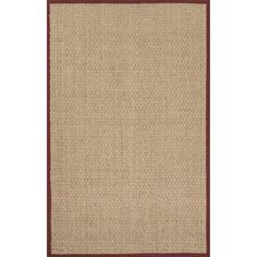 Boasting casual appeal, this seagrass rug will give any home a welcoming touch. This rug showcases a solid pattern with ivory and red shades. $354