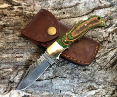Small Pocket Knives, Folding Pocket Knife, Folding Knives, Damascus Steel Pocket Knife, Damascus Knife, Steel Gifts, Memorable Gifts, Natural Materials, Gifts For Dad