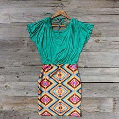 Geometrics Dress, Sweet Women's Country Clothing
