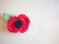 A crochet poppy pattern for remembrance day. Support our service men and women from past and present.