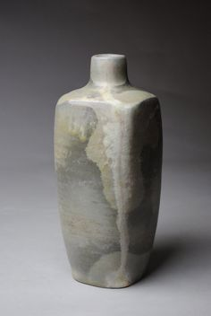 Clay Vase Bottle Wood Fired by JohnMcCoyPottery on Etsy, $75.00