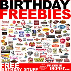 Birthday Freebies -Oh my goodness, how did I not know about some of these?!