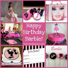 March is considered to be the official birthday of Barbie as she made her first appearance on March 1959 at The International Toy Fair (yes, the same Toy Fair that I attended last month and … Barbie Theme Party, Barbie Birthday Party, Birthday Fun, Birthday Ideas, Doll Party, Birthday Party Desserts, Birthday Parties, Happy Late Birthday, Party Entertainment
