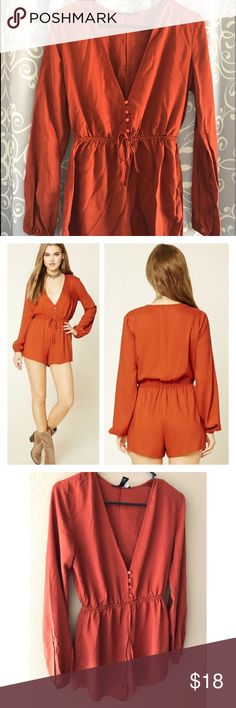 Romper Burnt orange colored romper. Size small. New with tags. Forever 21 Other