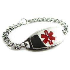 Pink Pre-Engraved /& Customized Sulfa Drug Allergy Charm Alert Bracelet Red Millefiori Glass My Identity Doctor