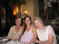 Happy Ladies having dinner at le Grand Colbert Restaurant Brasserie Paris