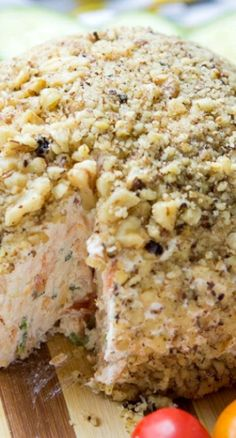 Smoked Salmon Cream Cheese Ball, a classic for holiday time, serve with crackers or breads.