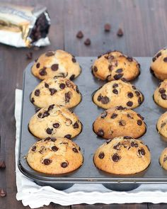 bakery-style chocolate chip muffins