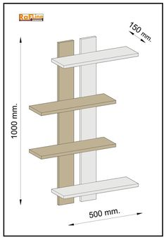 Diy Wooden Projects, Wood Shop Projects, Wooden Diy, Diy Pallet Furniture, Woodworking Furniture, Home Decor Furniture, Wall Shelves Design, Display Shelves, Diy Wall Decor