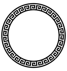 Illustration of Round frame with a meander. vector art, clipart and stock vectors. Voll Arm-tattoos, Spartan Tattoo, Greek Pattern, Muster Tattoos, Aztec Art, Marquesan Tattoos, Greek Art, Body Art Tattoos, Tattoos For Guys
