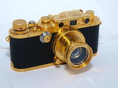 Leica IIIA GOLD PLATED rangefinder Gold Plated Summar 5cm f2 lens Made in 1938 on eBay!