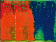 Gerhard Richter, GRÜN-BLAU-ROT, 1993, Auktion 1052 GRÜN-BLAU-ROT  1993  Öl auf Leinwand. 30 x 40 cm. Zeitgenössische Kunst, Lot 553