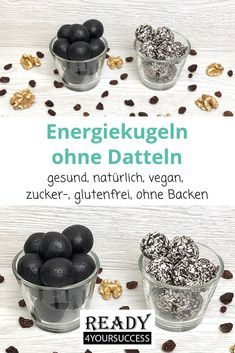 Energy balls without Energiekugeln ohne Datteln These vegan energy. Energy balls without Energiekugeln ohne Datteln These vegan energy balls without dates are made in n Vegan Energy Balls, Energy Bites, Lactation Recipes, Lactation Cookies, Healthy Sweets, Healthy Snacks, Healthy Recipes, Sin Gluten, Sugar Free Snacks