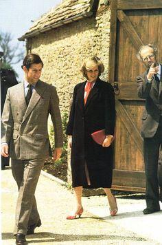 May 29, 1984: Prince Charles Princess Diana visit the Street Farm Workshops, Highgrove House, Tetbury.