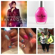 "Superstar Sighting: Singer, Ravaughn, not only has the hit single, ""Better Be Good"" ft. Wale, but she is rocking polish by Superstar Nail Lacquer!  Colors available at www.superstarnaillacquer.com"