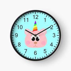 Babys, Clock, Wall, Design, Decor, Pink, Babies, Watch, Decoration