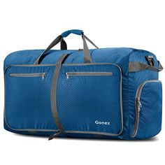 Gonex Foldable Travel Duffel Bag for Luggage Gym Sports Lightweight Travel  Bag with Big Capacity Water Resistant Deep blue     Visit the image link  more ... 012e9ff80dd45