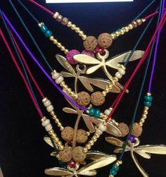 #colgantes elásticos de libélulas