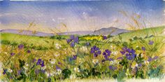 Meadow Elsdon Landscape Quilts, Landscape Paintings, Landscapes, Textile Art, Textile Design, Felt Pictures, Cross Stitch Embroidery, Hand Embroidery, Contemporary Embroidery
