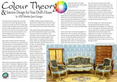 Read about colour theory as it relates to the mini world of doll'shouses