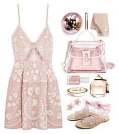 """""""30.06.17"""" by malenafashion27 ❤ liked on Polyvore featuring Needle & Thread, WithChic, NAKAMOL, Klippan, Essie and Old Navy"""