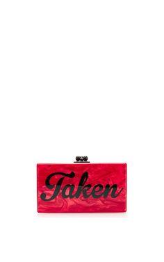Jean 'Taken' Acrylic Clutch by Edie Parker