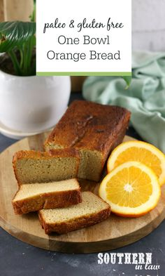 One Bowl Paleo Orange Bread Recipe - Who said paleo cakes and desserts can't be easy? This Orange Bread Recipe makes a sweet loaf that is gluten free, grain free, refined sugar free and absolutely delicious. Clean eating friendly and freezer friendly for easy meal prep. Best Paleo Recipes, Almond Recipes, Cake Recipes, Cooking Recipes, Paleo Dessert, Gluten Free Desserts, Gluten Free Recipes, Healthy Homemade Bread, Homemade Breads